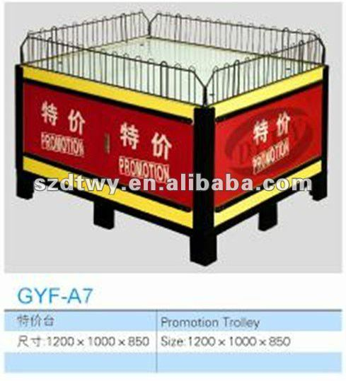 Supermarket promotion table high in quality and competitive in price